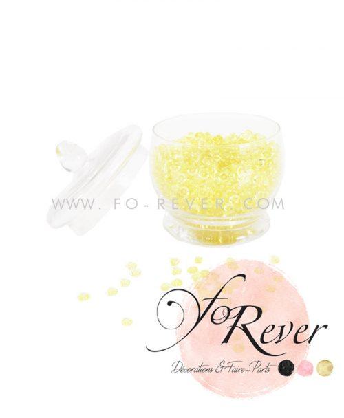 Perles de pluie - jaune - FoRever - Décoration de Mariage