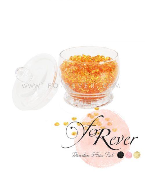 Perles de pluie - orange - FoRever - Décoration de Mariage
