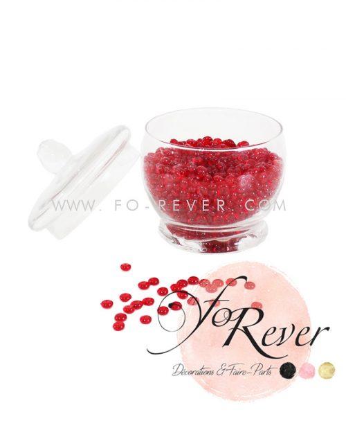 Perles de pluie - rouge - FoRever - Décoration de Mariage
