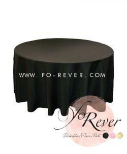 Nappe Ronde - Noir - FoRever Décorations de Mariage