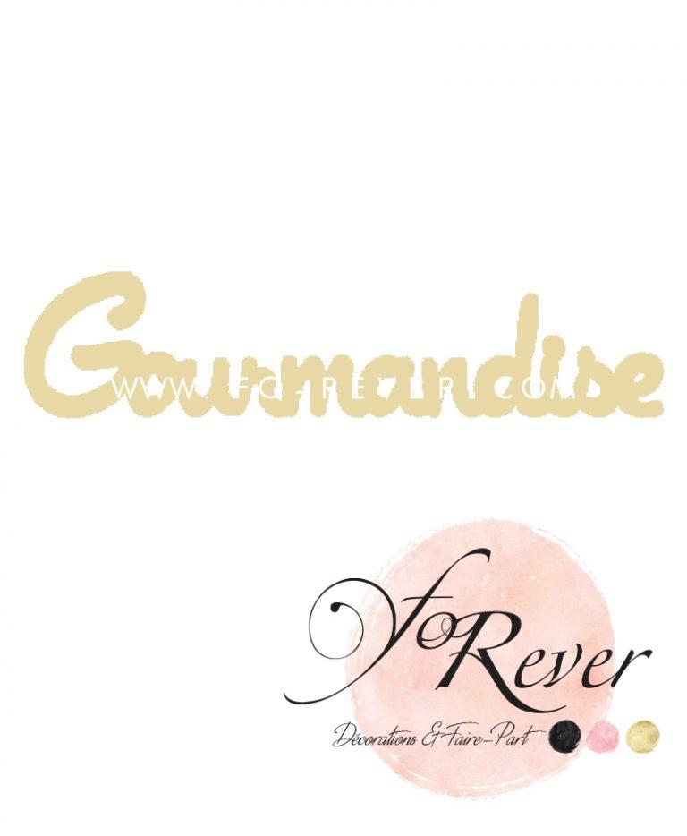Lettre Gourmandise