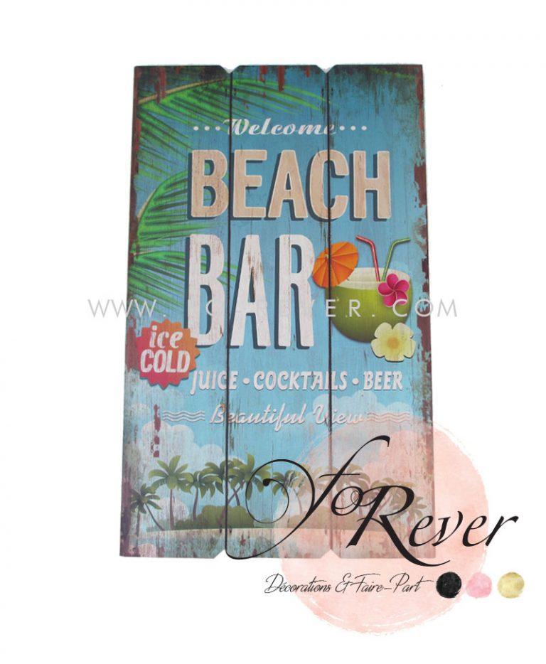Panneau Vintage Beach Bar