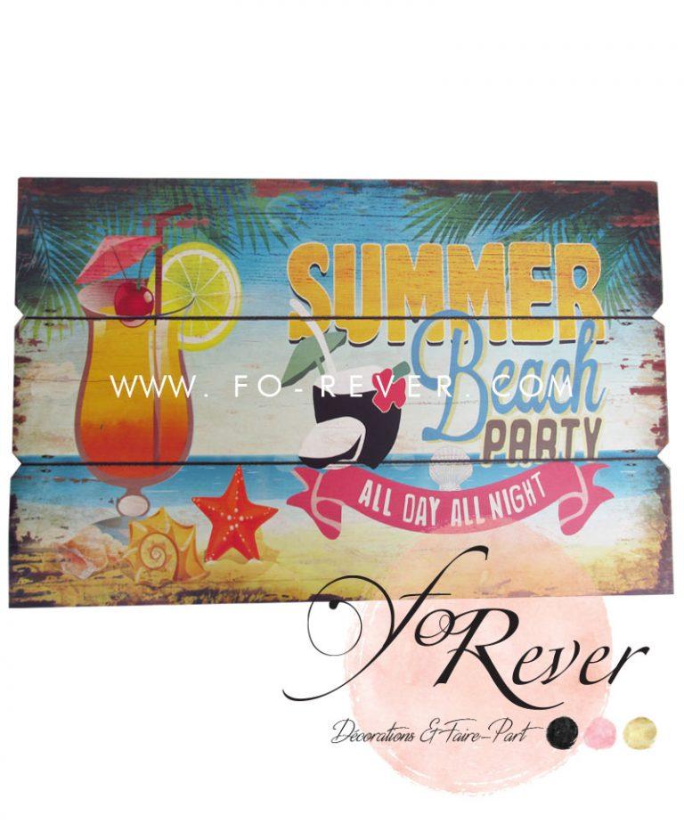 Panneau Vintage Summer Beach
