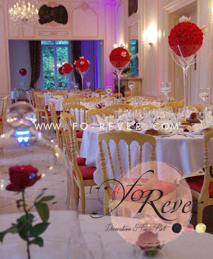 Vase Martini Boule de Roses