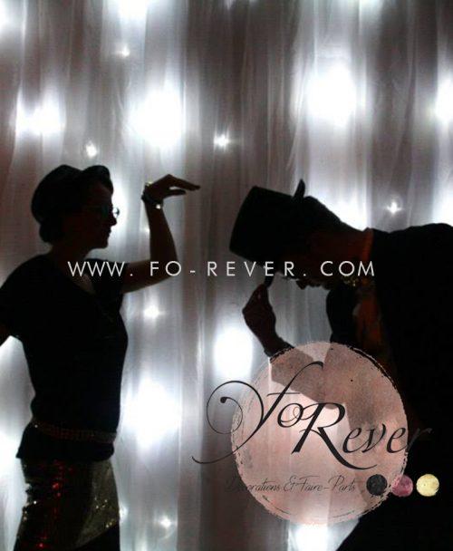 fond photobooth rideau lumineux à louer