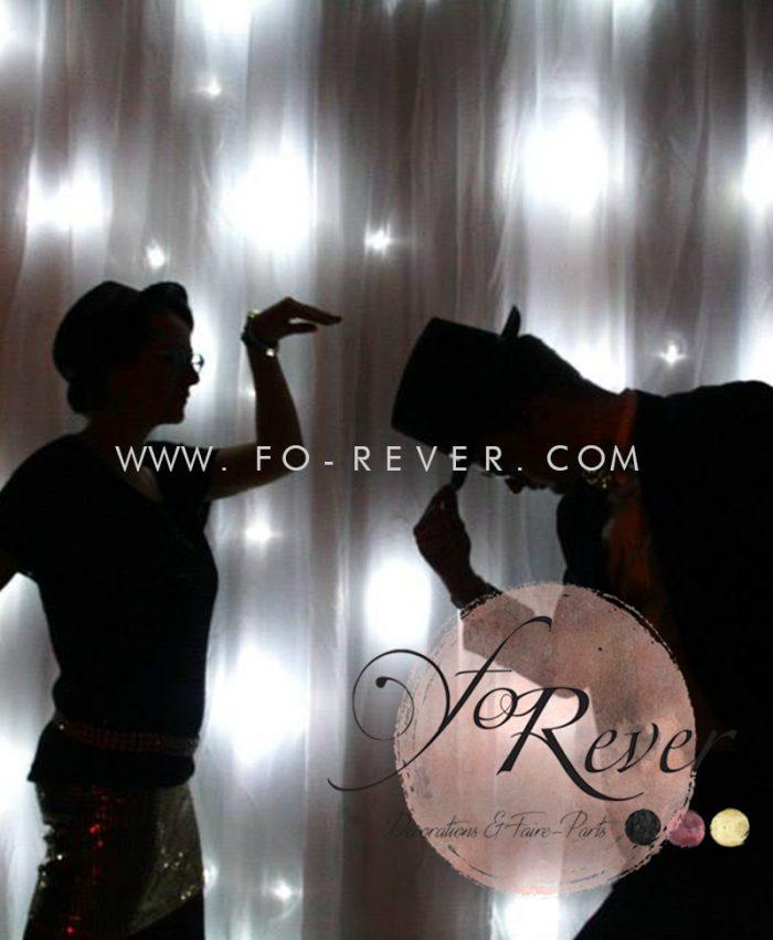 Fond photobooth - Rideau Lumineux