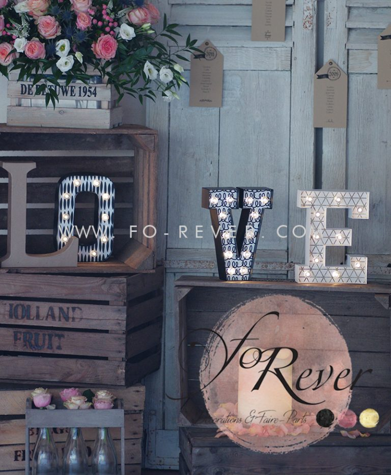 Lettres Love Illuminées