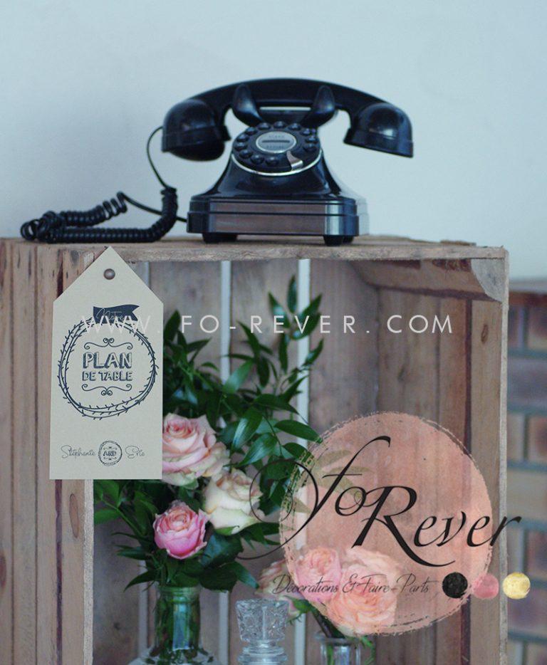 Téléphone Vintage Noir
