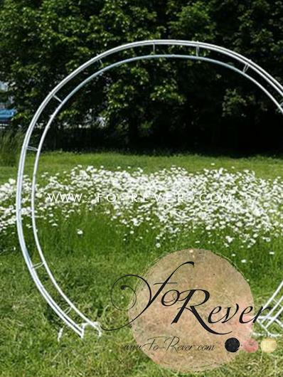 arche ronde mariage blanche - Fo-Rever Location de décoration de mariages