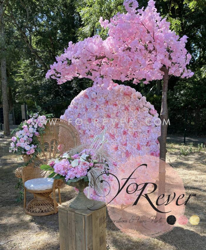 Mur de Fleur rond