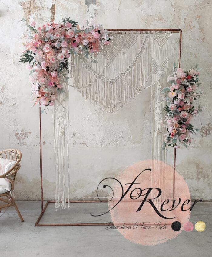 Décor floral Rose Boho