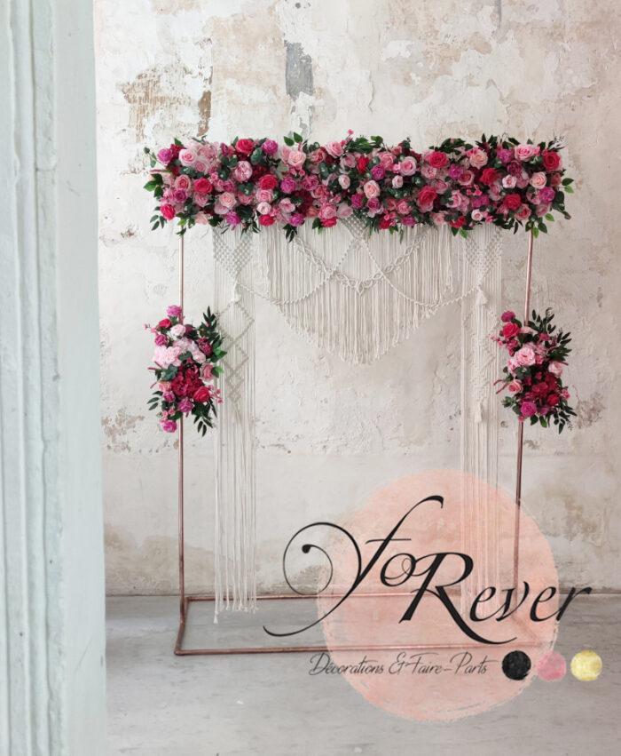 Décor floral Rose Fuchsia