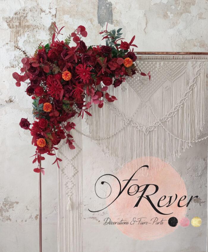 Décor floral Rouge
