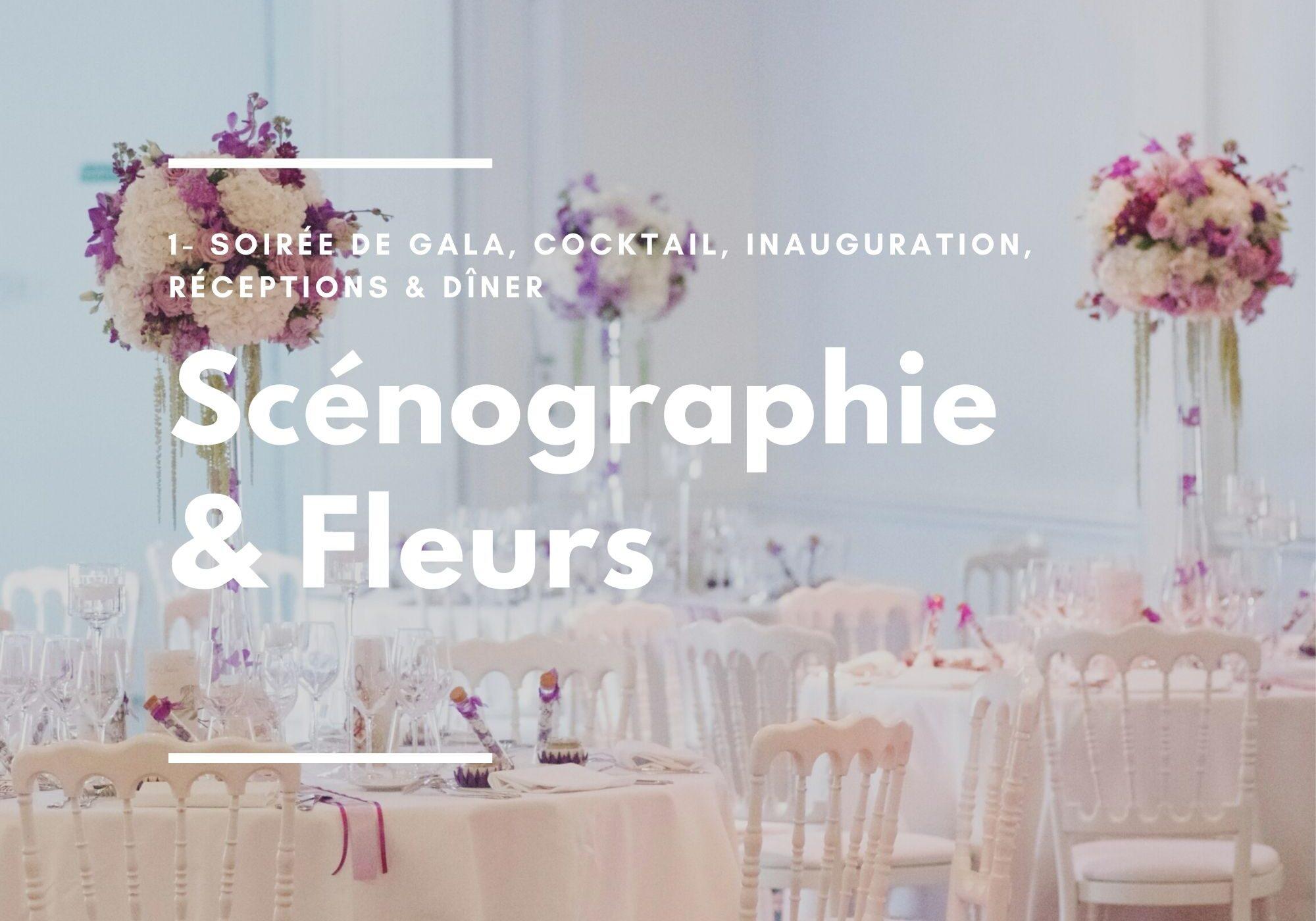 Catalogue scénographie et fleurs